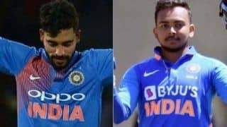 Ind a vs nz a prithvi shaw mohammad siraj surya kumar yadav guide india to 5 wicket win 3917564