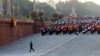 Beating Retreat Ceremony 2020: 14 Military Bands March Across Vijay Chowk to Mark End of Republic Day Celebrations