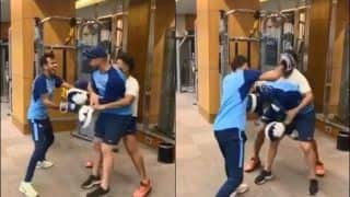WATCH: How Yuzvendra Chahal, Rishabh Pant Gang up on Indian Trainer Nick Webb After Training Session