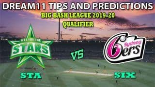 STA vs SIX Dream11 Team Prediction Big Bash League 2019-2020: Captain And Vice-Captain, Fantasy Cricket Tips Melbourne Stars vs Sydney Sixers Qualifier at Melbourne Cricket Ground, Melbourne 1:45 PM IST