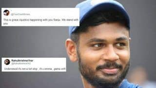 IND vs New Zealand: Sanju Samson Tweets a Coma, Fans Try to Read Between The Lines and Show Support   SEE POSTS