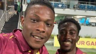 Wi vs ire 2nd odi sheldon cottrell creates record windies beat ireland by 1 wickets 3905355