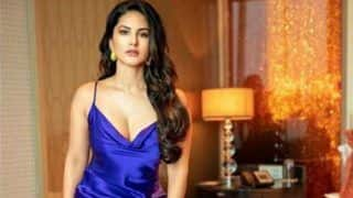 Sunny Leone's Sultry Picture in Sexy Blue Satin Dress is Making Her Fans go Aflutter on Her Hot Look