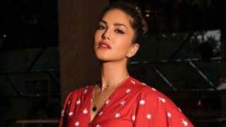 Sunny Leone is a True 'Baby Doll' in Floral Red Crop Top And Skirt And THESE Pictures Are The Proof