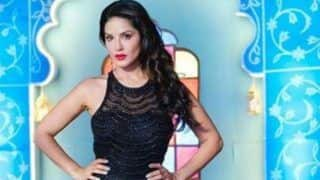 Sunny Leone Sets Fashion Goals High in Sheer Black Fish Cut Dress And Bold Red Lips