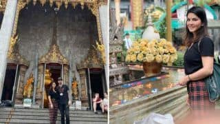 'Blessed With Buddhist Monk'! Sunny Leone, Daniel Weber Make 'One Last Stop' At Thailand Temple