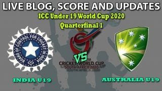 Under 19 World Cup 2020, India U19 vs Australia U19, Quarterfinal 1, Live Cricket Score: India, Australia Fight For Place in Semis