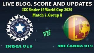 Under 19 World Cup 2020, India U19 vs Sri Lanka U19 Live Cricket Score