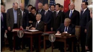 अमेरिका ने चीन के साथ पहले चरण के व्यापार समझौते पर किये हस्ताक्षर, ट्रंप ने ऐतिहासिक बताया