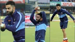 India vs Sri Lanka: Virat Kohli Copies Harbhajan Singh's Action Ahead of The 2nd T20I at Indore | WATCH VIDEO