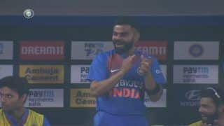 Virat Kohli's Reaction After Sanju Samson's Audacious First-Ball Six During 3rd T20I is Unmissable | WATCH VIDEO