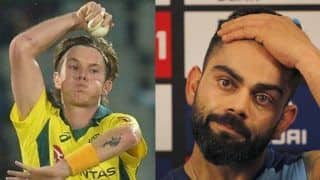 India vs australia adam zampa claim to discover week point of virat kohli 3911567