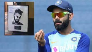 Virat kohlis biggest fan rahul parikh made captains portrait with old mobile phones 3899618