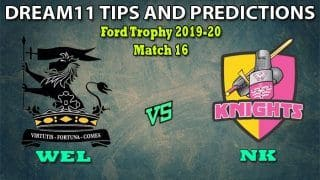 WEL vs NK Dream11 Team Prediction Ford Trophy 2019-20: Captain And Vice-Captain, Fantasy Cricket Tips Wellington vs Northern Knights Match 16 at Basin Reserve, Wellington 3:30 AM IST