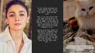 Alia Bhatt Releases Official Statement Denying Rumours About Accident on Sets of Gangubai Kathiawadi