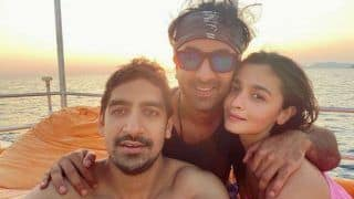 Alia Bhatt And Ranbir Kapoor Pose For New Year Picture by Sea But 'Why is Ayan Mukerji Third Wheeling?'