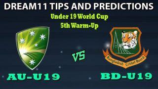 AU-U19 vs BD-U19 Dream11 Team Prediction Under 19 World Cup 2020: Captain And Vice-Captain, Fantasy Cricket Tips Australia U19 vs Bangladesh U19 5th Warm-up Match at Irene Villagers Cricket Club, Pretoria 1:30 PM IST