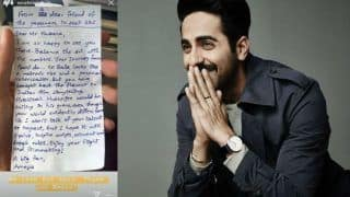 Trending Bollywood News Today, January 23, 2020: Ayushmann Khurrana Shares Hand-Written Letter by Fan Telling Him 'Hrishikesh Mukherjee Would be Smiling in His Grave'