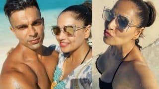 Bikini Babe Bipasha Basu Enjoys Sand, Beach And Sun With Karan Singh Grover on New Year - Viral Photos