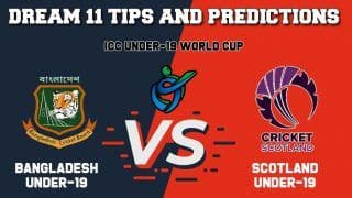 BD-U19 vs SCO-U19 Dream11 Team Prediction ICC Under-19 Cricket World Cup 2020