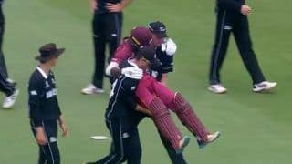 U19 World Cup: New Zealand Cricketers Carry Injured West Indies Batsman Kirk McKenzie Off the Field