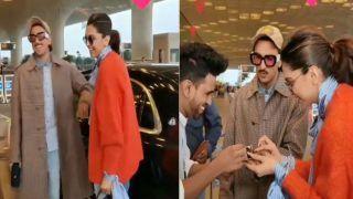 VIDEO: एयरपोर्ट पर फैंस ने दिया दीपिका पादुकोण को बर्थडे सरप्राइज, पति रणवीर के साथ मिलकर ऐसे किया सेलिब्रेट