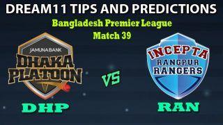 DHP vs RAN Dream11 Team Prediction Bangladesh Premier League 2019-20: Captain And Vice-Captain, Fantasy Cricket Tips Dhaka Platoon vs Rangpur Rangers Match 39 at Shere Bangla National Stadium, Dhaka 1:30 PM IST