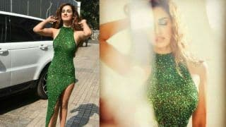Disha Patani's Sexy Green Blingy Dress Adds Hot Glam Quotient at Malang Trailer Launch