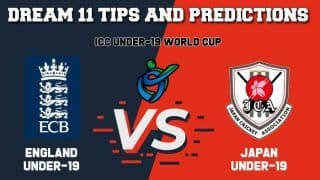 Dream11 Team Prediction England Under-19 vs Japan Under-19: