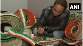 Amritsar School Teacher Makes National Flag with 71,000 Toothpicks to Mark the 71st Republic Day
