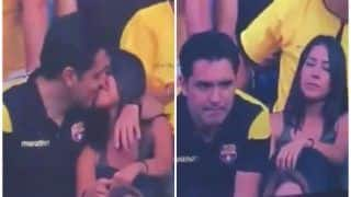 Fan Caught Kissing A Woman During Football Match Admits He Was Cheating On His Partner