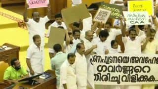 'Recall Governor,' UDF MLAs Shout Slogans in Kerala Assembly as Arif Mohammad Khan Arrives