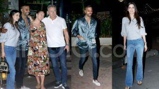 Hardik Pandya Meets Natasa Stankovic's Family Over Dinner After Engagement - Viral Photos