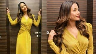 Hina Khan Slays in Yellow Gown as She Kicks Off 2020 in Style - Check Hot Pics