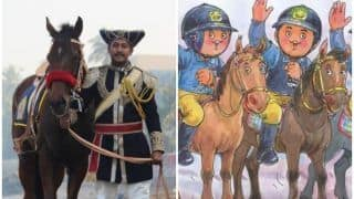 'Gallop it Down': Amul's New Cartoon on Mumbai Police's Mounted Horse Unit Is Adorable
