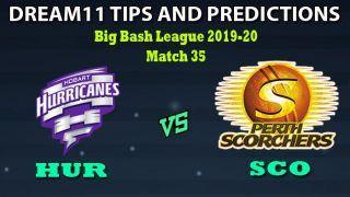 HUR vs SCO Dream11 Team Prediction Big Bash League 2019-20: Captain And Vice-Captain, Fantasy Cricket Tips Hobart Hurricanes vs Perth Scorchers Match 35 at Bellerive Oval, Hobart 1:40 PM IST