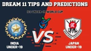 Dream11 Team Prediction India Under-19 vs Japan Under-19: Captain And Vice Captain For Today ICC Under-19 Cricket World Cup 2020 Group A Match 11 IN-U19 vs JPN-U19 at  Mangaung Oval in Bloemfontein 1:30 PM IST January 21