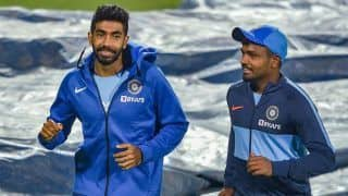1st T20I: Jasprit Bumrah Bowls Full Tilt During India Nets in Guwahati