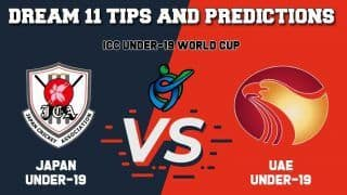 Dream11 Team Prediction Japan Under-19 vs United Arab Emirates Under-19: Captain And Vice Captain For Today ICC Under-19 Cricket World Cup 2020 Warm-up Match 14 JPN-U19 vs UAE-19 at  Braam Fisherville in Johannesburg 1:30 PM IST January 15