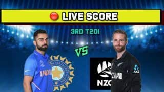 IND vs NZ Live cricket score India vs New Zealand, 3rd T20I, Hamilton, January 29 Match Time