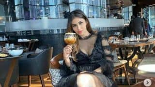 Mouni Roy Turns Head as She Poses in Little Black Dress