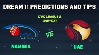 Dream11 Team Prediction Namibia vs United Arab Emirates: Captain And Vice Captain For Today CWC League 2 One-Day Match 2 NAM vs UAE at Al Amerat Cricket Ground Oman Cricket (Ministry Turf 1) 11:30 AM IST January 6