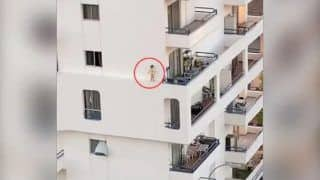Watch| This Hair-Raising Video of a Toddler Running on Building Ledge Will Terrify You