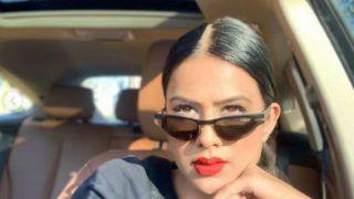 Naagin 4 Bomb Nia Sharma Looks Hot in Black Jacket With Bold Red Lips