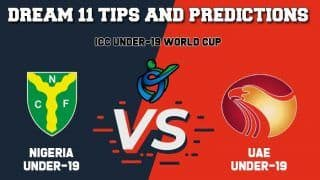 Dream11 Team Prediction Nigeria Under-19 vs United Arab Emirates Under-19: Captain And Vice Captain For Today ICC Under-19 Cricket World Cup 2020 Plate Playoff Semi-Final 1 NIG-U19 vs UAE-U19 at Witrand Cricket Field in Potchefstroom 1:30 PM IST January 30