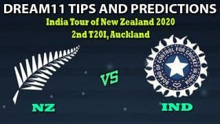 Dream11 Hints NZ vs IND 2nd T20I Team, New Zealand vs India Playing 11, 2nd T20I, New Zealand vs India 2020 – Cricket Prediction Tips For Today's Match NZ vs IND at Eden Park, Auckland January 26