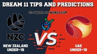 Dream11 Team Prediction New Zealand Under-19 vs United Arab Emirates Under-19: Captain And Vice Captain For Today ICC Under-19 Cricket World Cup 2020 Warm-up Match 6 NZ-U19 vs UAE-U19 at St Stithians Main Oval in Johannesburg 1:30 PM IST January 13