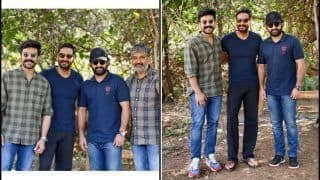 Ram Charan-Jr NTR Welcome Ajay Devgn on Sets of SS Rajamouli's RRR With THIS Super-Charged Picture