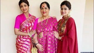 Shilpa Shetty Kundra Paints Friday Pink With Shamita Shetty-'Mother of Shettys' in 'Ethnic Mode'