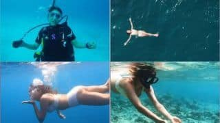 Sara Ali Khan Soaks in 'Fishies Vibing'-Blows Underwater Kisses, Varun Dhawan Calls it 'Bad Dive' | Watch
